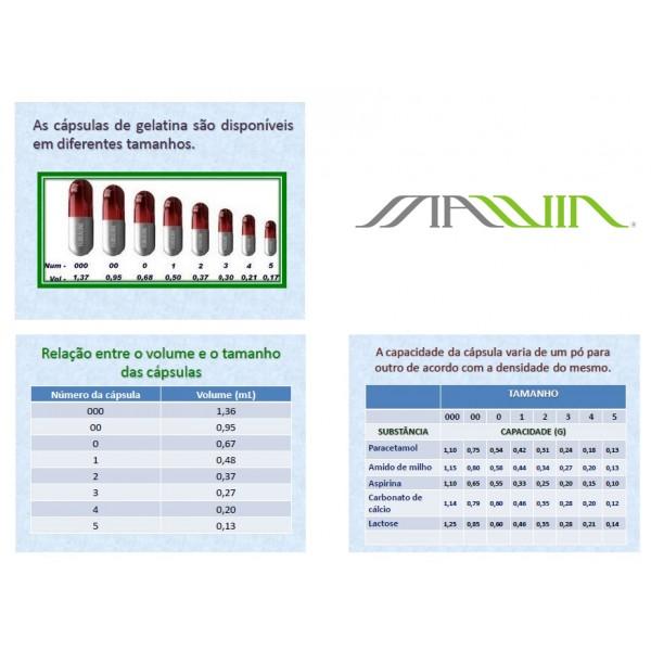 CAPSULA  VEGETAL N1 de 450mg - INCOLOR - Pacote Com 1000